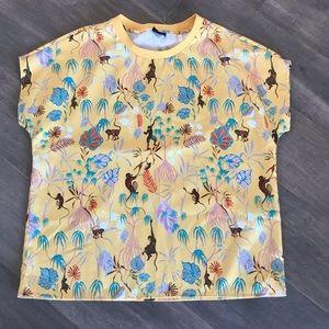 Icone Funky Monkey Yellow Short Sleeve Sh…